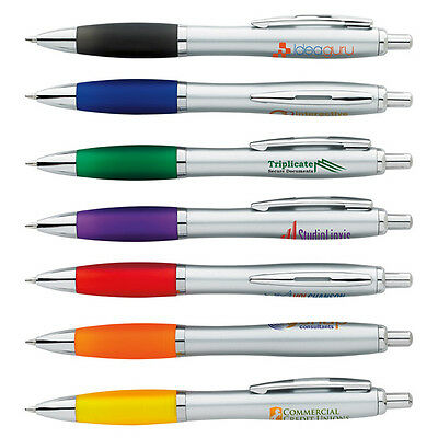 Blue Ink Grip Pens Personalized Imprint Promotional Marketing Cheap Handout Gift