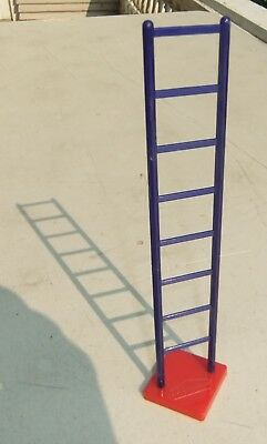 Vintage B.F. Goodrich Plastic Free Standing Blue Ladder w/ a Red Stand
