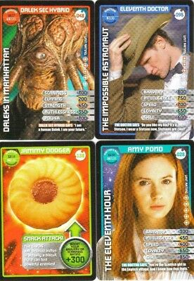 Bundle Lot of 50+ Doctor Who Monster Invasion Common & Rare Trading Cards Dr Who