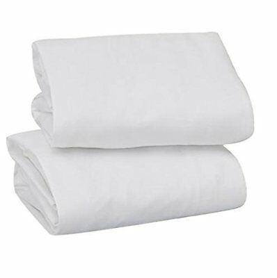 Garanimals 2 Pack Fitted Bassinet Sheets, White