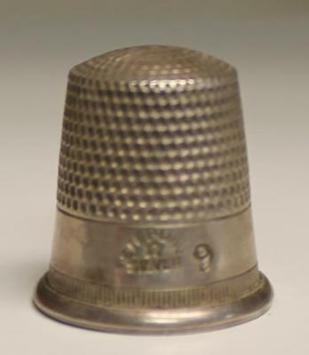 Sterling Silver Thimble No. 9