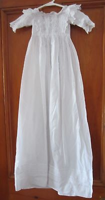 Gorgeous Antique CHRISTENING GOWN / DRESS - Cotton, Lace & Broderie Anglaise
