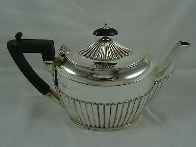 QUALITY, VICTORIAN solid silver `BACHELORS` TEA SET, 1900, 605gm
