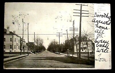 RESIDENTIAL NEIGHBORHOOD, Penn Ave, EAST ST LOUIS, IL ILL Illinois 1908
