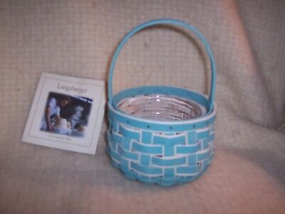 Longaberger 2018 Small Easter Basket & Protector Turquoise - Retired!!!
