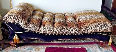 Chaise Lounge  Leopard Buffalo Head Velvet  Memory Foam Unique