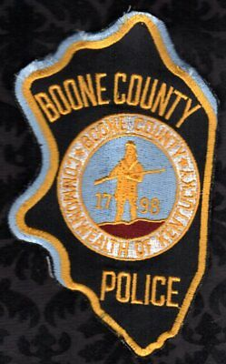 Boone County Kentucky Police Shoulder Patch  Uniform Shirt Removed