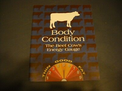"""""""Body Condition The Beef Cows Energy Guage"""" Booklet From Elanco Animal Health"""