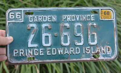Authentic Original 1966 PEI CANADA ISLAND Metal LICENSE PLATE Birthday Year Gift