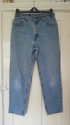 Vintage Levi 550 Stonewashed Jeans, Relaxed Fit, Tapered Leg, UK 12, 28 Length