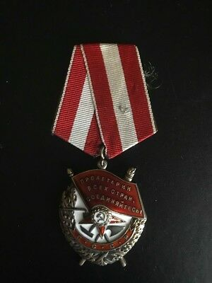 "ORIGINAL!!! RUSSIAN USSR MEDAL PIN BADGE ORDER ""Red Banner"" WWII"