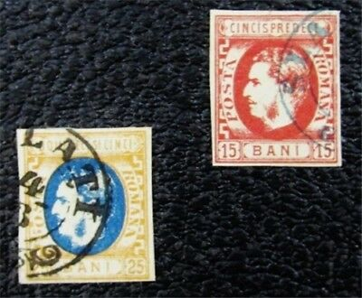 nystamps Romania Stamp # 40,41 Used $62