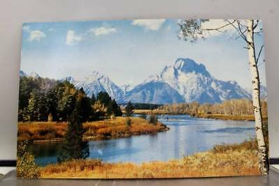Wyoming WY Jackson Hole Mt Moran Snake River Postcard Old Vintage Card View Post