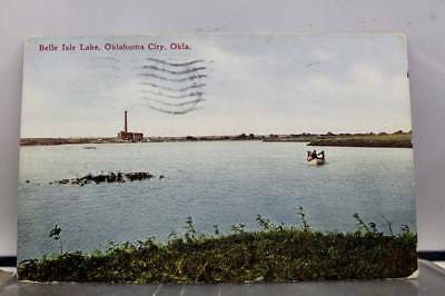 Oklahoma City OK Belle Isle Lake Postcard Old Vintage Card View Standard Post PC