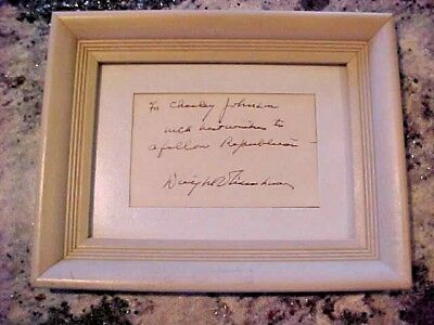 Dwight D Eisenhower Signed Personal Note