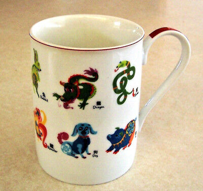 PIER ONE 1 IMPORTS Porcelain MUG -ANIMALS-Dog Cat Horse Tiger Dragon etc