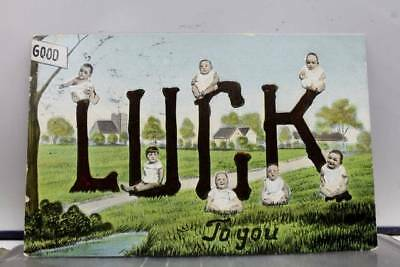 Greetings Good Luck to You Postcard Old Vintage Card View Standard Souvenir Post