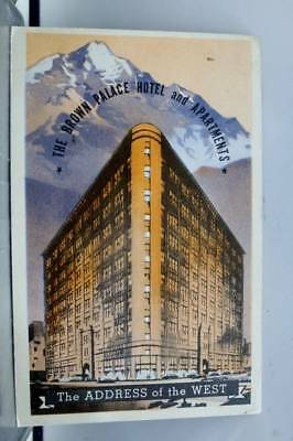 Colorado CO Denver Brown Palace Hotel Postcard Old Vintage Card View Standard PC