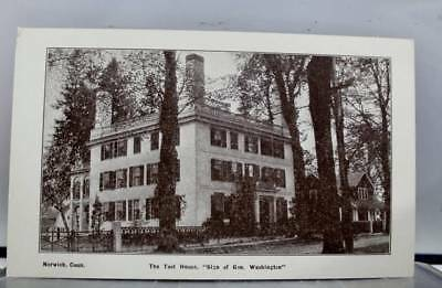 Connecticut CT Norwich Teel House Gen Washington Sign Postcard Old Vintage Card