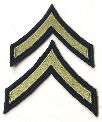 Wwii Us Private Pfc Jacket Sleeve Rank Chevrons Insignia