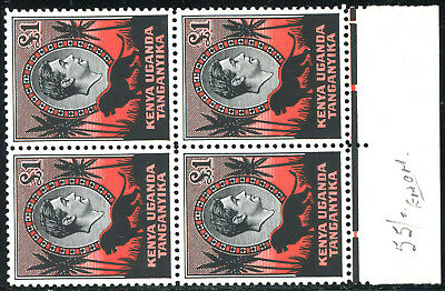 KUT 1954 KGVI 1Pd SG 150b Perf 12.5 Mint Never Hinged MNH NH with jubilee line