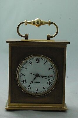 Solid Brass Swiss Carriage Clock,german Movement.battery Powered.