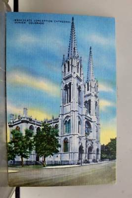Colorado CO Denver Immaculate Conception Cathedral Postcard Old Vintage Card PC