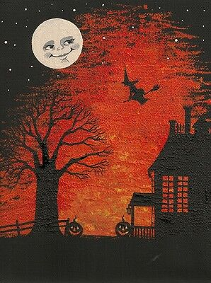 1.5x2 DOLLHOUSE MINIATURE PRINT OF PAINTING RYTA 1:12 SCALE WITCH ART HALLOWEEN