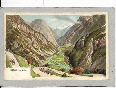 NORWAY, Naerrodalen, early old postcard,