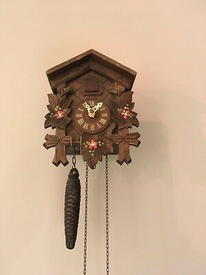 Wooden Cuckoo Clock, Approx 25 Years Old, Purchased In Switzerland