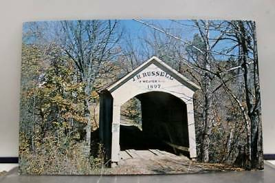 Indiana IN Parke County JH Russell Bridge Postcard Old Vintage Card View Post PC