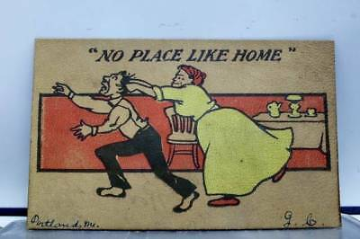 Comic Cartoon No Place Like Home Postcard Old Vintage Card View Standard Post PC
