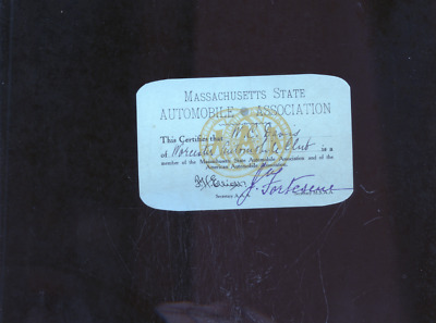 ca1904 American Automobile Association/Massachusetts State membership card,car