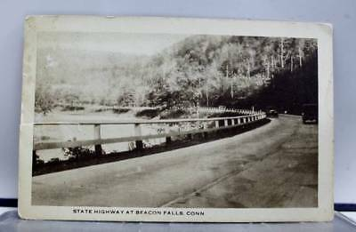 Connecticut CT Beacon Falls State Highway Postcard Old Vintage Card View Post PC