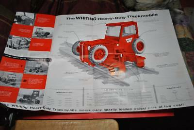 """3 Whiting """"Trackmobile"""" Sales/Promo Brochures 1950s GC-Great Pics & Info--DL"""