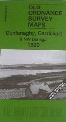 Old Ordnance Survey Maps Dunfanaghy Carrickart & NW Donegal Ireland 1899 Sheet 4