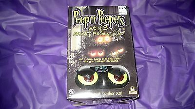 Peep n' Peepers - Halloween lights - Spooky Flashing Eyes. NEW! In+Outdoor Use.