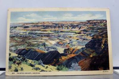 Arizona AZ Painted Desert Postcard Old Vintage Card View Standard Souvenir Post