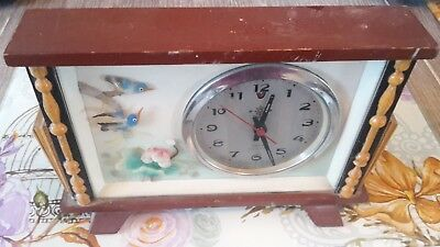 old chinese  fully working wind up clock very nice