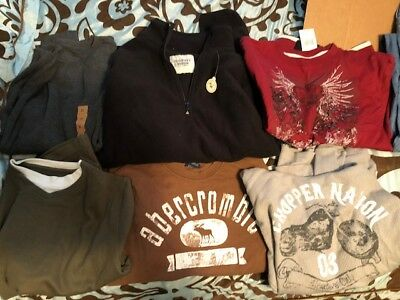 Lot of pre-owned and new Boys / Young Men's shirts m/l/xl nwot nwt Free Shipping
