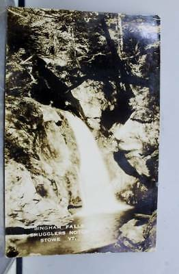Vermont VT Bingham Falls Smugglers Notch Stowe Postcard Old Vintage Card View PC