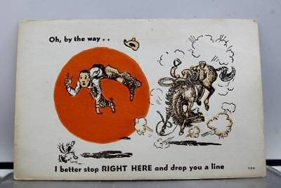 Comic Cartoon Better Stop Right Here Postcard Old Vintage Card View Standard PC