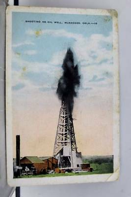 Oklahoma OK Oil Well Muskogee Postcard Old Vintage Card View Standard Souvenir