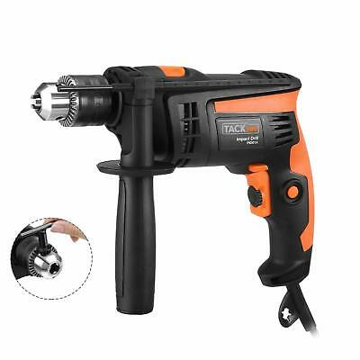 Tacklife Hammer Drill 6.0Amp Reversible With Variable Speed Home Decorations DIY