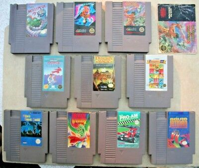 Lot of 10 NES games - Dungeon Magic - Dragon Warrior - Winter Games - Millipede
