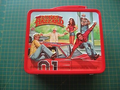 Vintage Metal Tin Lunchbox Dukes Of Hazzard Tv Show Excellent Clean Nr