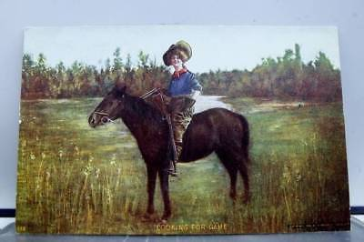 Greetings Looking For Game Postcard Old Vintage Card View Standard Souvenir Post