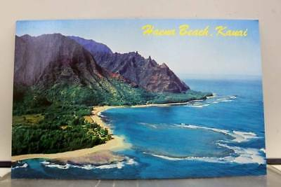 Hawaii HI Haena Beach Island of Kauai Postcard Old Vintage Card View Standard PC