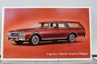 Car Automobile Caprice Classic Station Wagon Postcard Old Vintage Card View Post