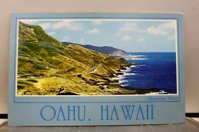 Hawaii HI Shoreline Drive Oahu Postcard Old Vintage Card View Standard Souvenir